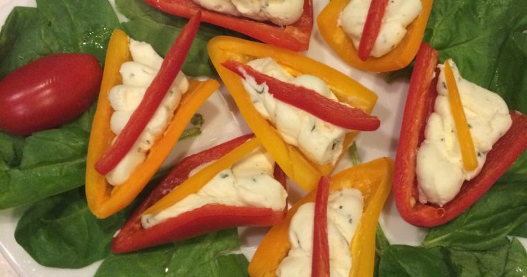 Boursin filled Mini Bell Peppers