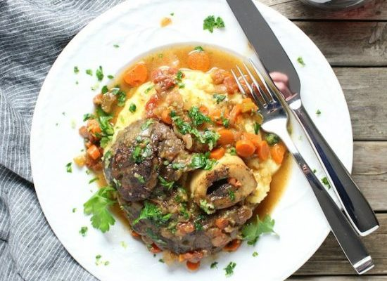 Veal with Tomatoes and White Wine (Osso Bucco)