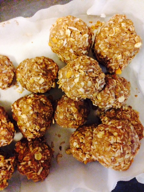 Chocolate and Peanut Butter Protein Bars (or Balls)